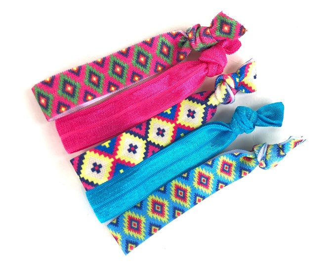 Elastic hair ties - elastic ties, ponytail holders, no crease hair ties, girls hair ties