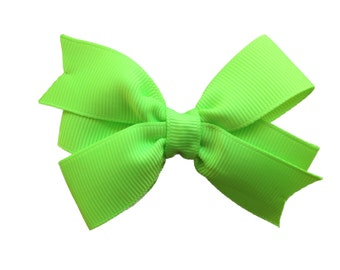 Key lime hair bow - hair bows for girls, baby bows, girls hair bows, pigtail bows, toddler bows