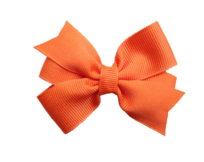 Orange hair bow - hair bows, hair clips, bows for girls, baby bows, baby hair bows, toddler bows, pigtail bows, hairbows, girls