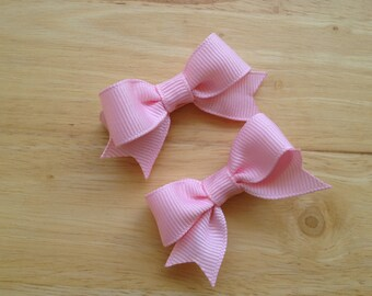 Pink hair bows - hair bows, baby hair clips, bows for girls, pigtail bows, baby bows, baby girl bows, toddler bows