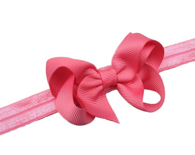 Coral baby headband - baby headbands, baby headband, baby headband bows, baby girl headbands, baby bow headbands, baby bows, hair bows, bows