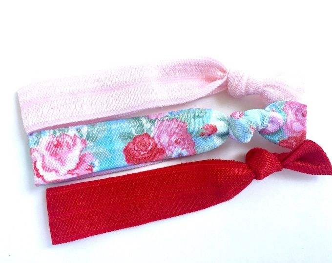 Elastic hair ties - ponytail holders, no crease hair ties, girls hair ties, fold over elastic hair ties