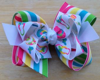 08bde956af4da9 Flip flop hair bow - hair bows for girls