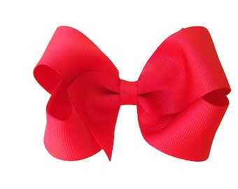 Red hair bow - hair bows, bows for girls, baby bows, toddler hair bows, girls hair bows, boutique hair bows, hair clips, hairbows