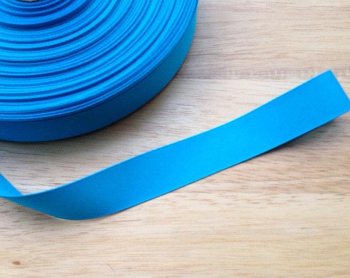 5 yards 7/8 inch island blue grosgrain ribbon - blue ribbon, hair accessories, craft supplies