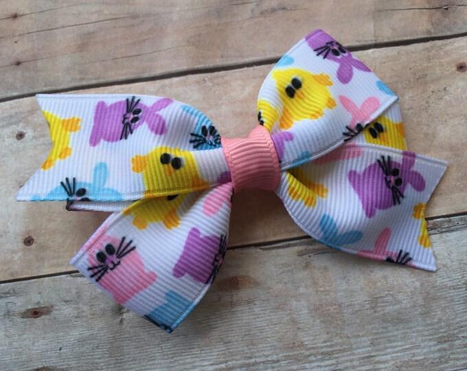 Easter hair bow - girls hair bow, baby bows, toddler bows, hair bows, 3 inch hair bows
