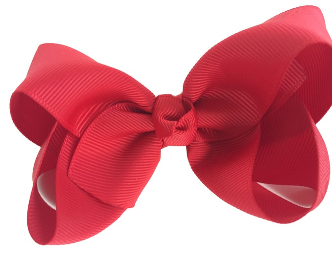 Hair bow set - PICK 6 - 4 inch hair bows, hair bows, bows for girls, baby bows, toddler hair bows, boutique bows