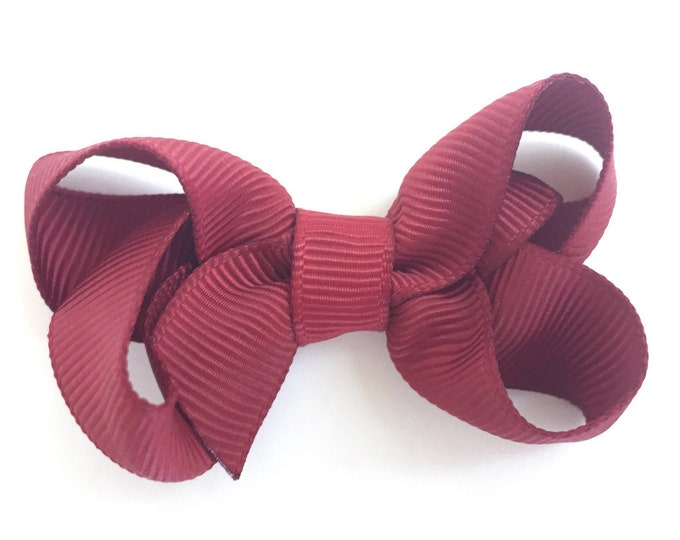 Baby hair bow - hair bows, baby bows, girls bows, toddler hair bows, pigtail bows, small bows, hair clips