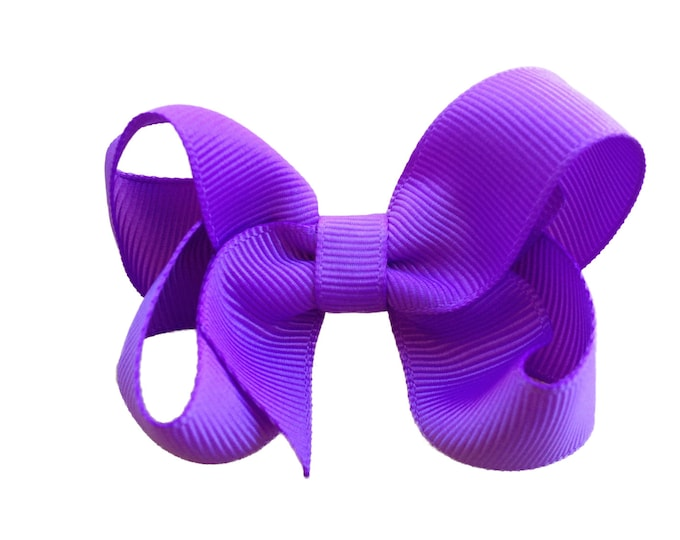 Lilac purple hair bow - hair bows for girls, pigtail bows, baby bows, toddler hair bows, girls hair bows