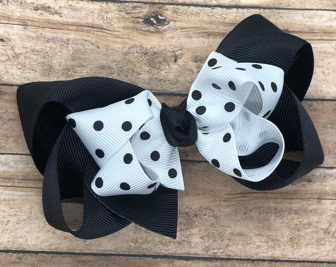 Girls hair bows - hair bows, bows for girls, baby bows, toddler hair bows, girls bows, boutique hair bows, minnie mouse bows