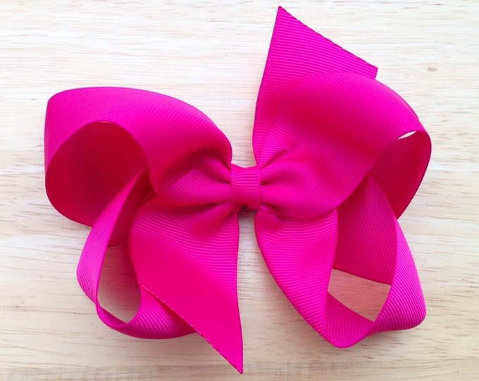 PICK 6 hair bows - 5 inch hair bows, bows for girls, baby bows, toddler bows, girls bows, big hair bows, hairbows