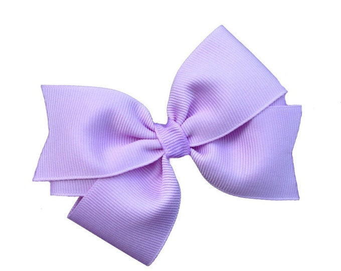 Light purple hair bow - hair bows, bows for girls, toddler bows, girls hair bows, 4 inch hair bows, pinwheel bows