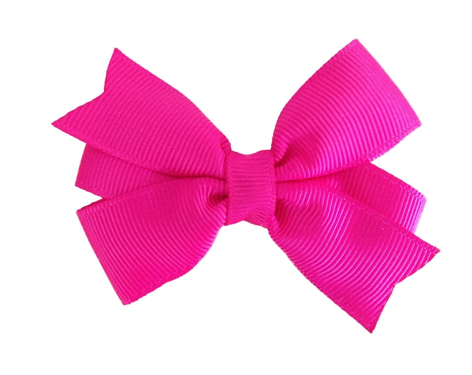 Hot pink hair bow - hair bows, bows for girls, baby bows, 3 inch hair bows, pigtail bows, toddler bows