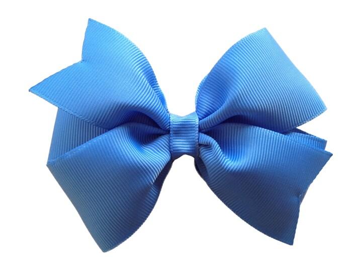 Carolina blue hair bow - hair bows, girls bows, bows for girls, baby bows, toddler bows, pigtail bows, big hair bows