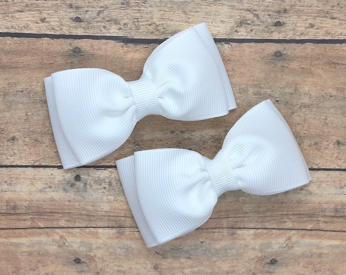 YOU PICK color pigtail bows - hair bows, bows for girls, baby bows, baby girl bows, toddler hair bows, girls hair bows