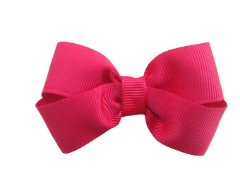 Red hair bow - hair bows, bows for girls, baby bows, pigtail bows, toddler hair bows, 3 inch hair bows