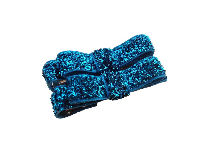 Glitter hair clips - hair clips, hair bows, baby bows, bows for girls, baby hair bows, baby hair clips, hair clips for girls