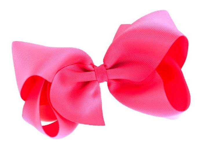 Big hair bow - 6 inch hair bows, passion fruit hair bow, cheer bows, big bows, girls hair bows, toddler bows