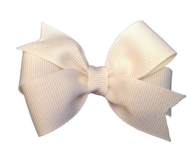 Ivory hair bow - hair bows, bows, hair bows for girls, baby bows, baby hair bows, girls hair bows, toddler hair bows, hairbows, hair clips