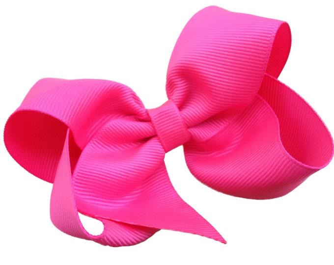 Girls hair bow - passion fruit hair bows, bows for girls, baby bows, toddler bows, big hair bows, 4 inch hair bows