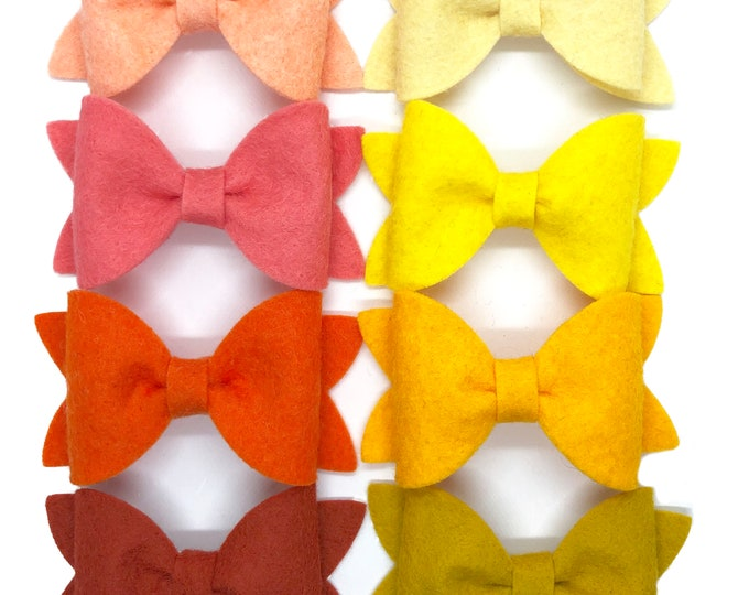 YOU PICK color hair bow - felt bows, hair bows, girls bows, baby bows, girls hair bows, nylon baby headband, baby headband, hair clips