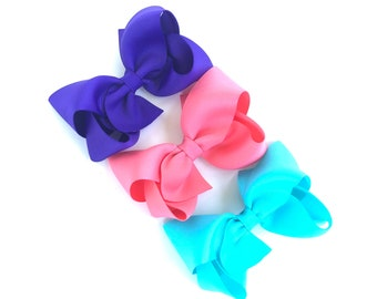 PICK 3 hair bows - hair bows, bows, hair bows for girls, baby bows, hair clips, toddler bows, boutique bows, 4 inch hair bows