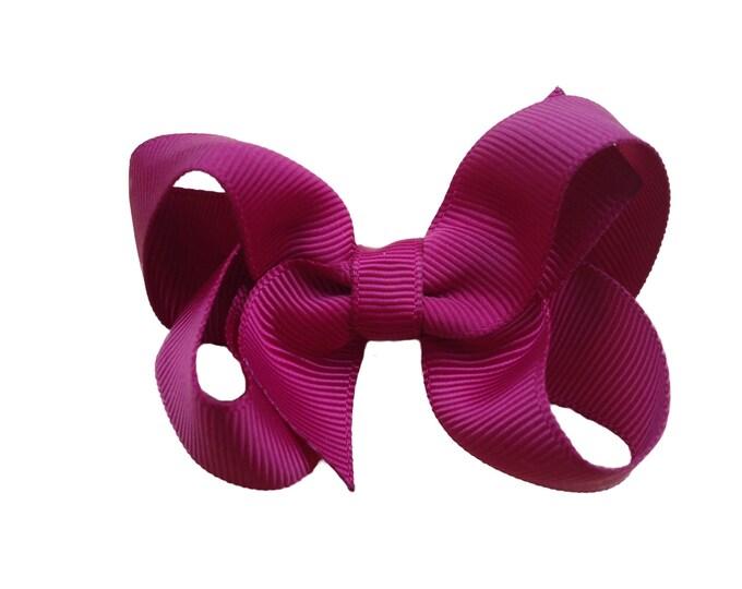 Burgundy hair bow - hair bows for girls, toddler hair bows, boutique bows, girls bows, baby bows, pigtail bows