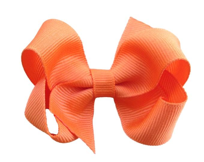 Orange hair bow - hair bows, bows for girls, girls hair bows, toddler hair bows, baby bows, pigtail bows