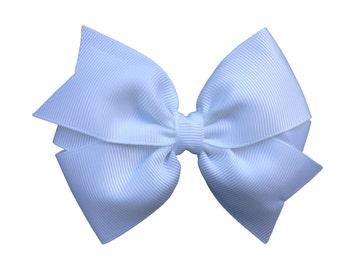 White hair bow - white bows, bow, hair bows, hair clips, hair bows for girls, toddler bows, baby bows, big hair bows, hairbows, hair clip