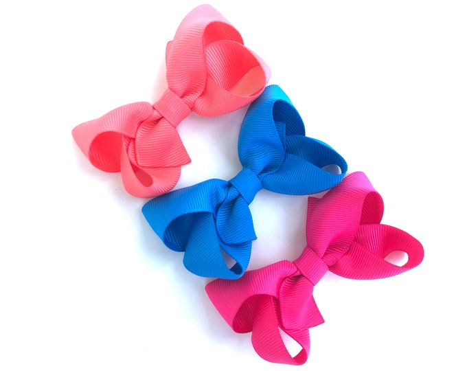 PICK 3 hair bows - 3 inch hair bows, hair bows, bows, hair clips, hair bows for girls, baby bows, pigtail bows, girls hair bows