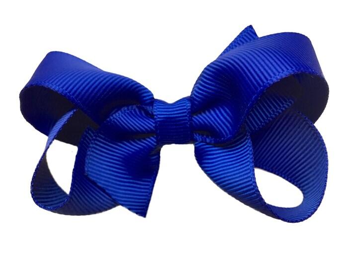 Cobalt blue hair bow - hair bows, bows, hair clips, hair bows for girls, baby bows, baby girl bows, pigtail bows, girls hair bows, toddler