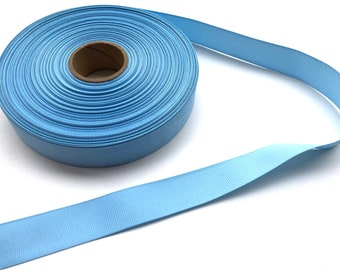 5 yards 7/8 inch light blue grosgrain ribbon - light blue ribbon, blue ribbon, hair bows, hair accessories