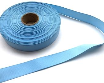 5 yards 7/8 inch light blue grosgrain ribbon - light blue ribbon, blue ribbon, hair bows, hair accessories