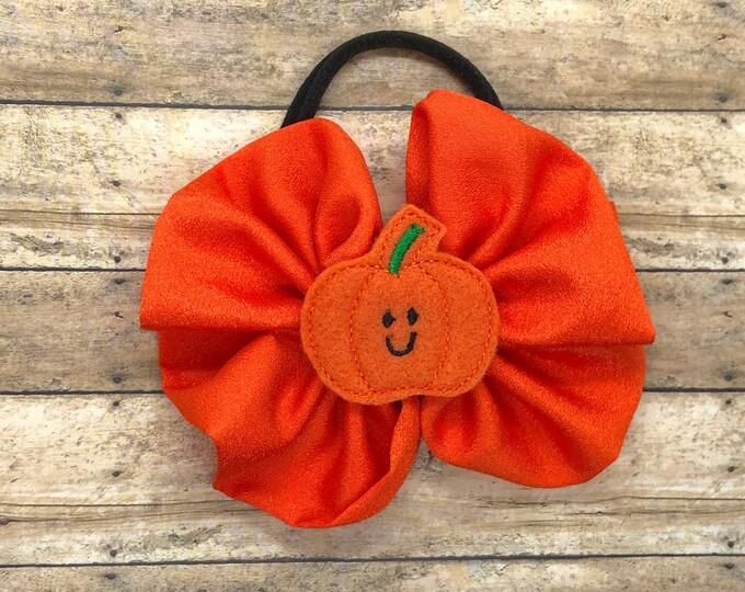 Halloween baby headband - pumpkin headband, newborn headband, bow headband, infant headband, headband bows
