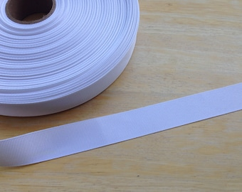 5 yards 7/8 inch white grosgrain ribbon - white ribbon, grosgrain ribbon, hair bows, offray ribbon