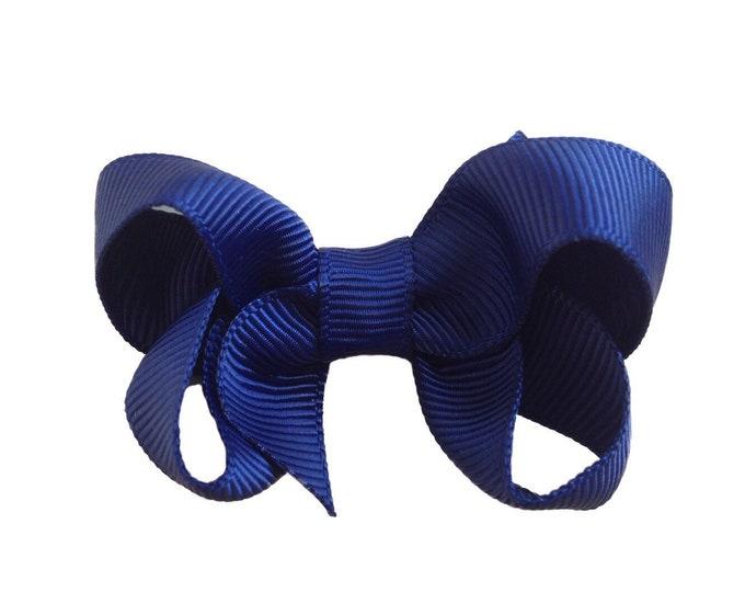 Navy blue hair bow - hair bows, hair clips, baby bows, hair bows for girls, baby hair bows, girls hair bows, toddler bows