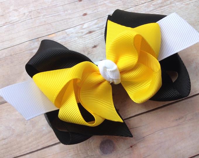 Boutique hair bow - Custom bows - hair bows, girls bows, big hair bows, toddler hair bows