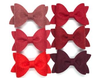 YOU PICK color felt hair bow - felt bows, hair bows, girls bows, baby bows, girls hair bows, boutique bows, hair bows for girls, hair clips