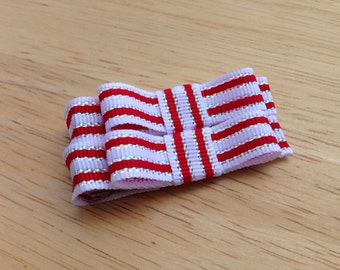Red, white & silver hair clips - baby bows, hair bows, girls bows, baby hair bows, baby hair clips, girls hair bows, toddler bows, bows
