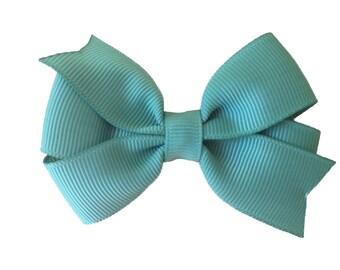 Sage green hair bow - hair bows, baby bows, girls bows, toddler bows, pigtail bows, pinwheel bows