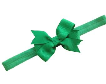 Green baby headband - baby headband, baby headbands, baby headband bows, baby bows, baby girl headbands, newborn headbands, baby hair bows