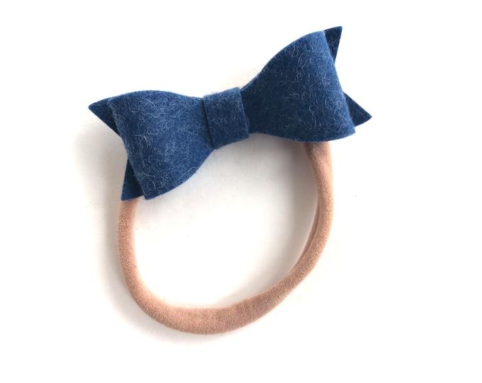 Baby headband - nylon headband, baby girl headband, baby headband bows, newborn headband, baby bows, baby bow headband