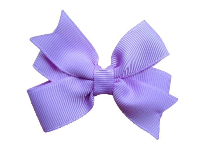 Light purple hair bow - hair bows, baby bows, pigtail bows, toddler bows, hair clips, 3 inch hair bows