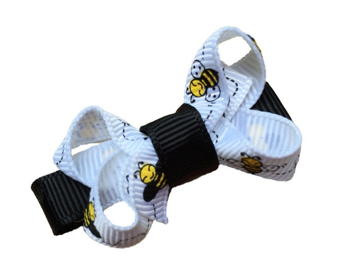 Bumble bee hair bow - baby bows, hair bows, small bows, baby hair bows, bows for girls, toddler bows