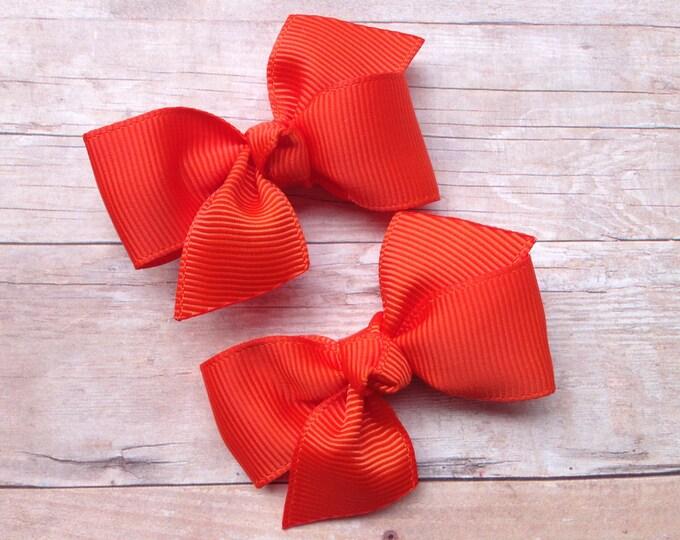 Pigtail bows - hair bows, hair clips, bows for girls, baby bows, baby girl bows, baby hair clips, toddler bows