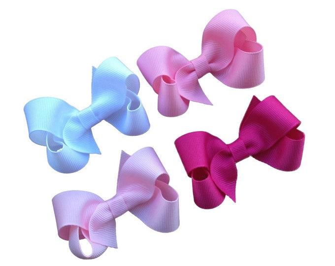 PICK 4 hair bows - hair bows, bows for girls, baby bows, girls hair bows, toddler hair bows, boutique hair bows, pigtail bows