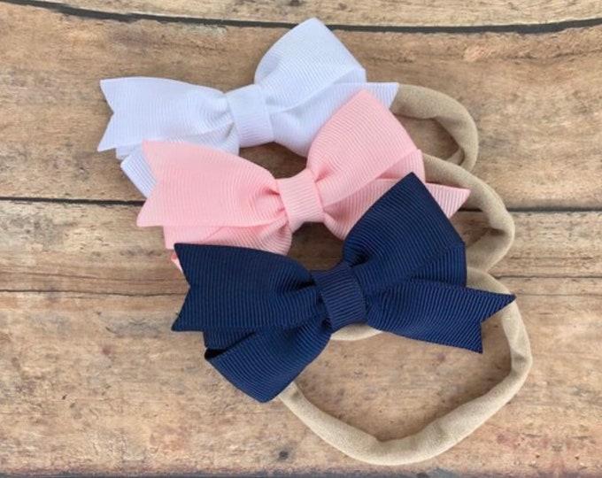 YOU PICK color baby headband -  bow headband, baby headband bows, baby girl headbands, newborn headbands, baby bows