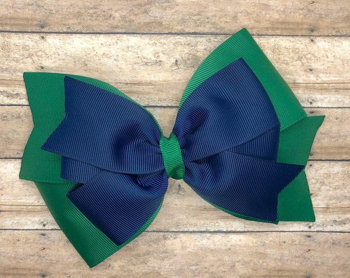 School uniform hair bow - hair bows, girls bows, big hair bows, toddler hair bows, stacked bows
