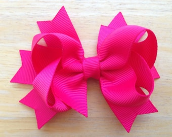 YOU PICK color hair bow - hair bows, bows, hair bows for girls, baby bows, girls hair bows, toddler hair bow, hair clips for girls, 3 inch
