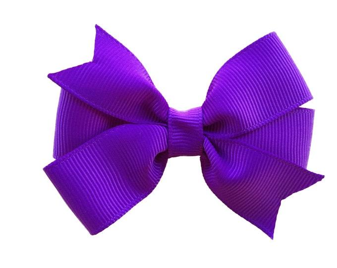 Purple hair bow - hair bows, bows for girls, baby bows, girls hair bows, pigtail bows, baby hair bows, toddler bows